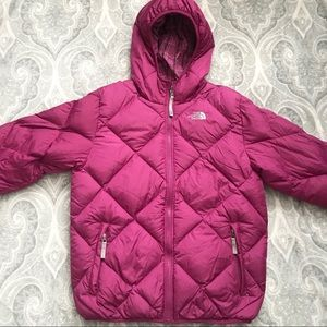 Girls Reversible The North Face Puffer Jacket